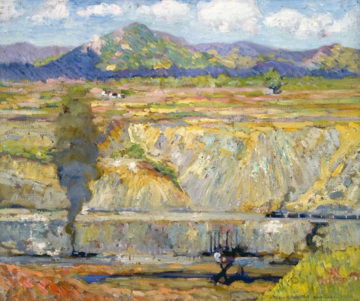 The Gaillard Cut, Alson Skinner Clark (American, 1876-1949), 1913. Oil on canvas. Private collection