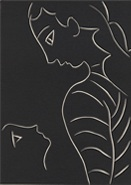 "Henri Matisse, (it seems as if she has never seen me) from Henry de Montherlant, Pasiphaé – Song of Minos (The Cretans), 1944, linocut on Arches paper, 13-1/4"" x 10-1/4"" © 2014 Succession H. Matisse/Artists Rights Society (ARS), New York."
