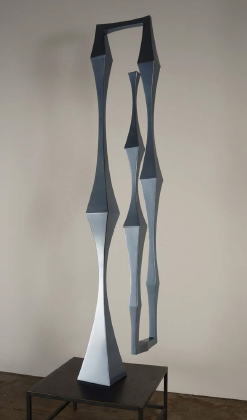 "Shaun Cassidy, ""The Sound of Everything, Bassoon"", 2014, Powder coated steel, 90 x 21 x 20 inches"