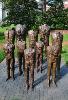 "Magdalena Abakanowicz, ""Group of Ten"""