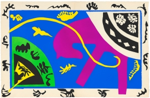 "Henri Matisse, ""The Horse, the Rider, and the Clown,"" plate V of XX, from ""Jazz,"" 1947, 