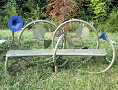 "Jim Gallucci, ""Morning Glory,"" steel"