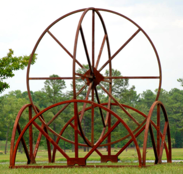 "Adam C. Walls, ""Rings,"" steel"