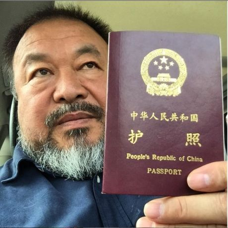 Ai Weiwei's instagram post announcing the return of his passport