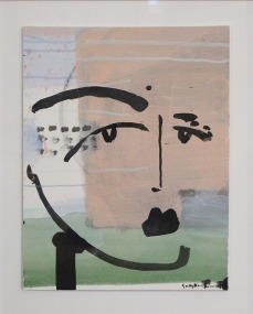 Sally King Benedict, Facing Hurt, 2015. Mixed media on paper20 x 16 inches
