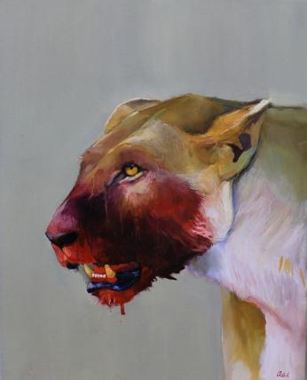 "Sanguine, Oil on Canvas, 20"" x 16"""