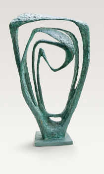 "Barbara Hepworth, ""Garden Sculpture (Model for Meridian)"""