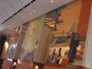 Bank of America Corporate Center Lobby with three Frescoes by Ben Long (1998).