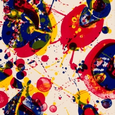 Sam Francis, Kayo 5 Years Old, lithograph on paper, 1963 © 2015 Sam Francis Foundation, California / Artists Rights Society (ARS), NY