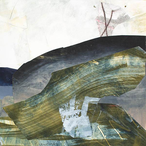 Felicia Van Bork, How to Expect Seasons, 2013. Monotype Collage.