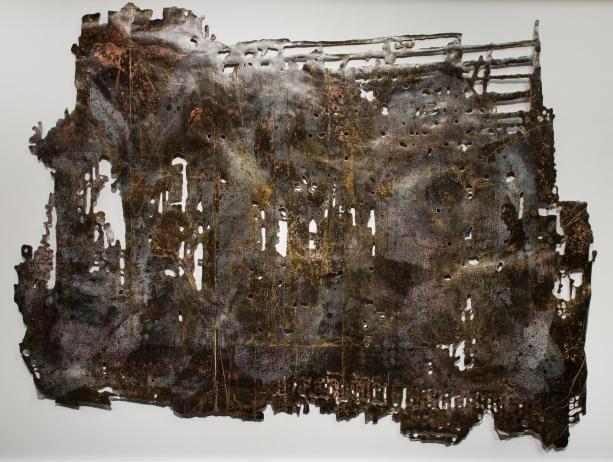 """""""Mescolato con il Fumo I,"""" 2015, mixed-media on cut paper"""