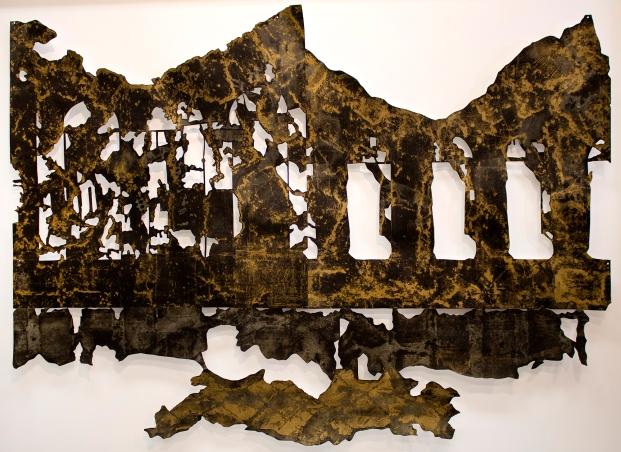 """""""Mescolato con il Fumo II,"""" 2015, mixed-media on cut paper"""