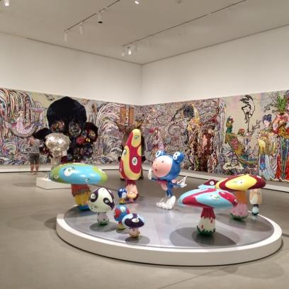 Takashi Murakami room at The Broad
