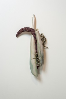 "Even If 23"" x 12"" x 5"" Fired Clay, oxides, mixed media, Photo by Mitchell Kearney"