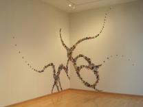 Ancient Expanse 20' x 17' Fired Clay, oxides, mixed media 2011 Gordon College, Wenham, MA