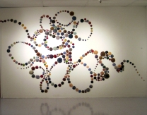 Ancient Expanse 10' x 8' Fired Clay, oxides, mixed media 2013 Women Centered Art, Charlotte, NC