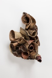 "Inferential 26"" x 19"" x 18"" Fired Clay, oxides, mixed media 2014, Photo by Mitchell Kearney"