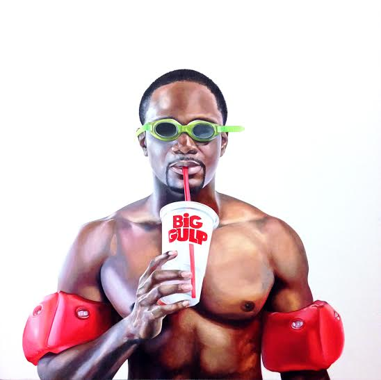 Charles Williams, Big Gulp. Oil on panel, 30 x 30 inches.