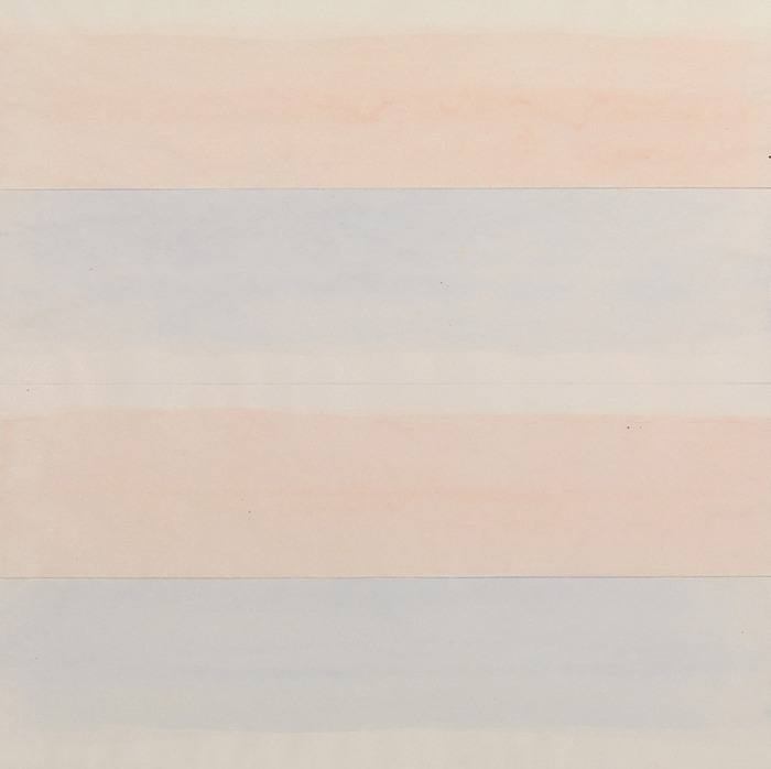 Agnes Martin, Untitled, 1977. Watercolor and graphite on paper, image: 9 x 9 inches; sheet: 30.5 x 30.5 cm. Solomon R. Guggenheim Museum, New York Gift, American Art Foundation, 178.2415 © 2015 Agnes Martin/Artists Rights Society (ARS), New York