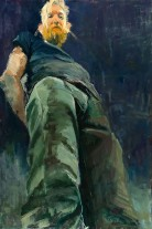 Tall Guy, Pamela Freeman, Oil on Canvas
