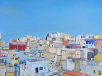 Tangiers, Christian Price, Oil on Paper
