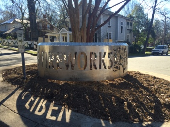 "Bagwell and Carew, ""Now is Fireworks"" roundabout sculpture in Elizabeth neighborhood"