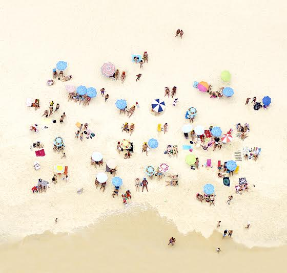 Joshua Jensen Nagle, Sunbathers of Copacabana III, 2016. Photographic Print, 30 x 31 inches.