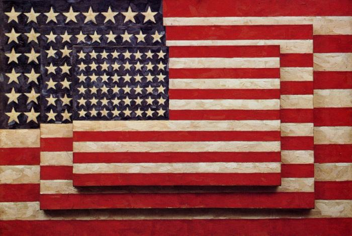 Jasper Johns, Three Flags, 1958, Collection of Whitney Museum of Art, NY