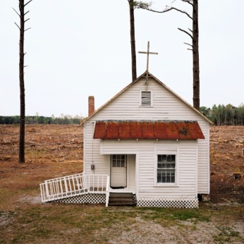 Clear Cut Church, 2006 Archival Pigment Print 20 x 24 in Copyright © Burk Uzzle courtesy of SOCO Gallery