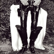 Very Tall Boots, 1984 Vintage Gelatin Silver Print 11 x 14 in Copyright © Burk Uzzle courtesy of SOCO Gallery