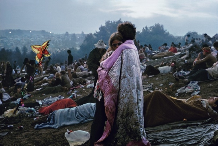 Burke Uzzle, Woodstock Cover, 1969 Archival Pigment Print 20 x 24 in Copyright © Burk Uzzle courtesy of SOCO Gallery