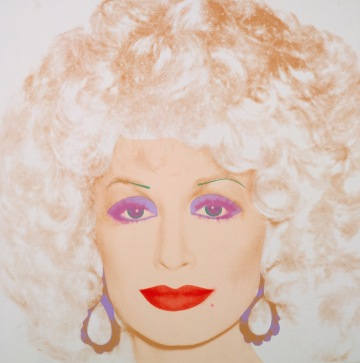 Andy Warhol, Dolly Parton, 1985. Synthetic polymer paint and silkscreen ink on canvas; 42 x 42 inches (106.7 x 106.7 cm). Collection of Crystal Bridges Museum of American Art, Bentonville, Arkansas, 2010.11. Image courtesy of the Andy Warhol Foundation for the Visual Arts, Inc. / Licensed by Artists Rights Society (ARS), New York, New York. © 2015 The Andy Warhol Foundation