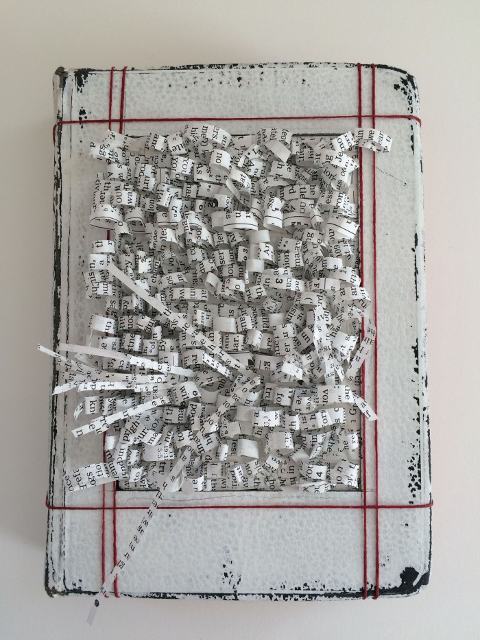 """Altar Book I,"" Altered Book, 2015, Private Collection"