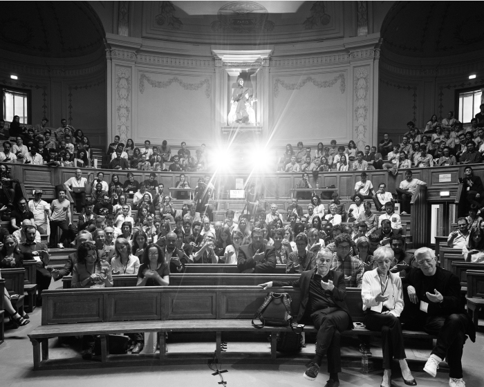 "Eric Pickersgill, Photograph of 2016 Auction Audience, Value: $1,500 Pickersgill, artist and photographer of the Removed series, will create a large scale tableau photograph of the auction audience by asking all in attendance to stare into their palms as if they are looking at personal devices. Moments after creating the exposure with a 4x5 view camera and black and white film, The Light Factory will auction off the promise of the 1st 24"" x 20"" print from an edition of 20 with a value of $1,500. (The negative will be processed and print produced within 2 weeks of the auction.)"