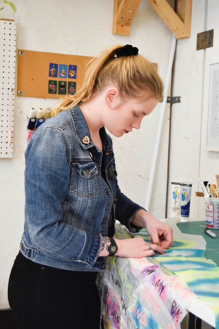WINTHROP - Jordan Sommer working in studio