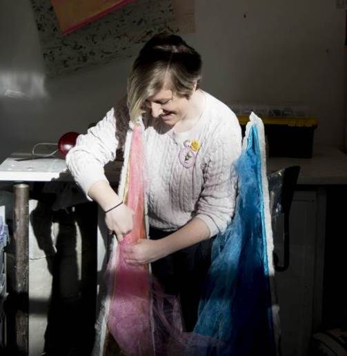 WINTHROP - Meaghan Westfall artist at work